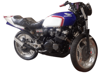 事故車のバイク