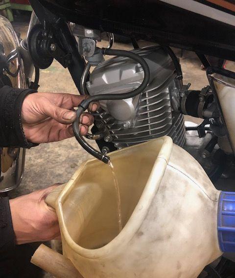 バイク アイドリング 調整