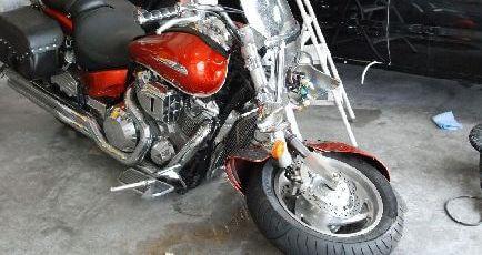 事故車バイク